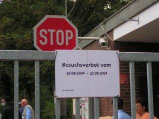 Begrüßungsbotschaft für Anti-Lager-action-Tour, Sommer 2004